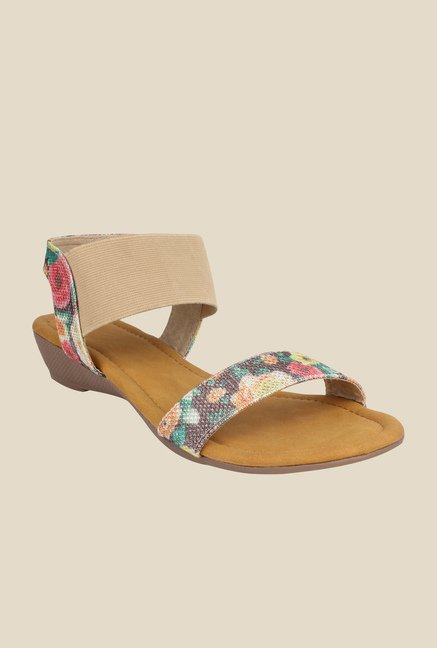 Cobbler's Thread Brown & Beige Sling Back Wedges