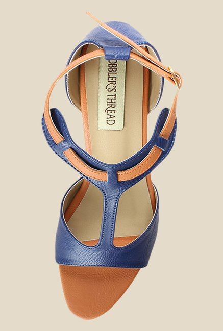 Cobbler's Thread Navy & Beige Ankle Strap Sandals