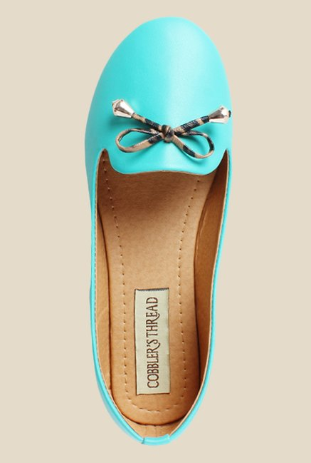 Cobbler's Thread Turquoise Flat Ballets