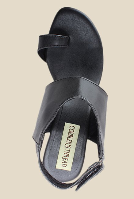 Cobbler's Thread Black Back Strap Sandals