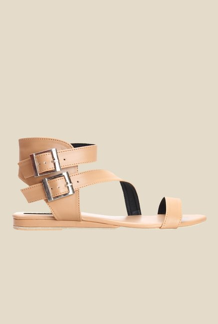 Cobbler's Thread Beige Ankle Strap Sandals