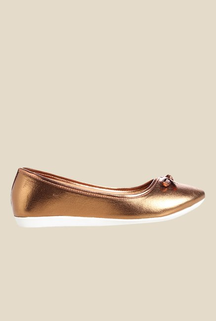 Cobbler's Thread Bronze Flat Ballets