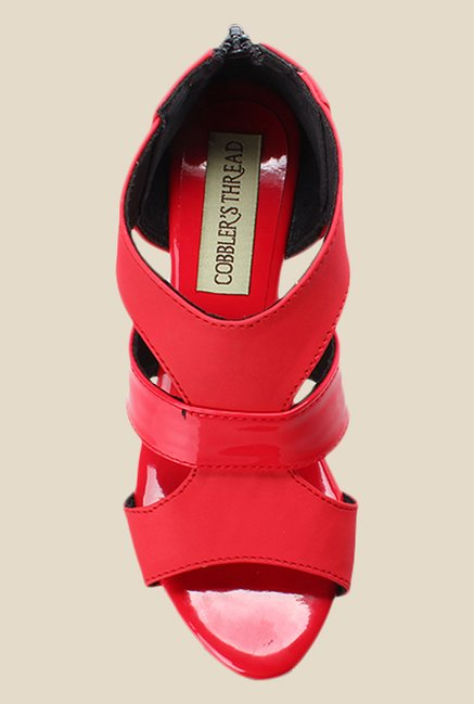 Cobbler's Thread Red Casual Sandals