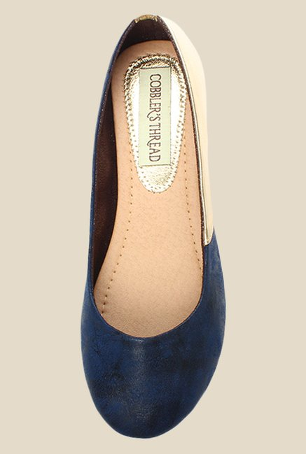 Cobbler's Thread Navy & Golden Flat Ballets