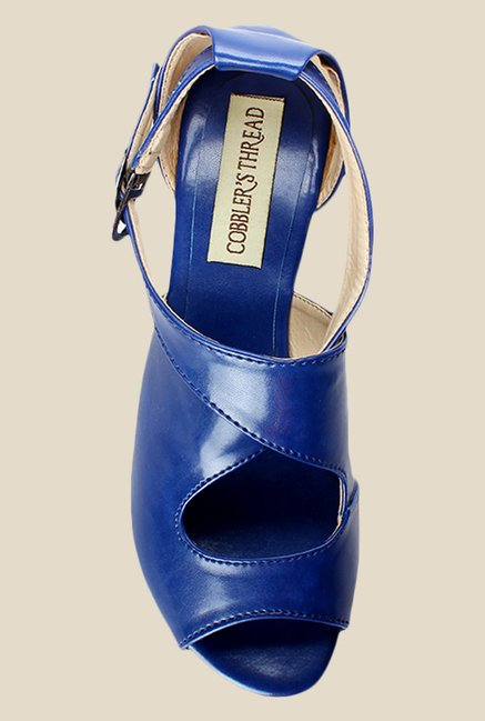 Cobbler's Thread Blue Cross Strap Sandals