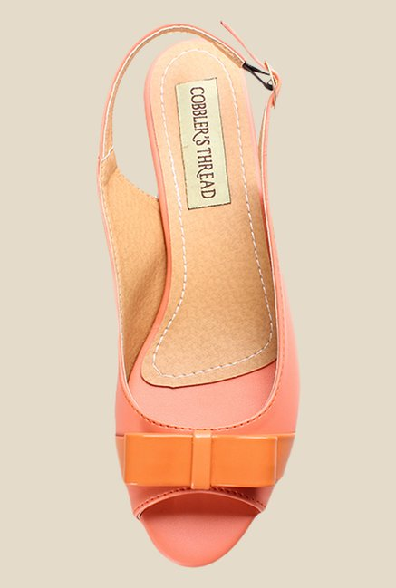 Cobbler's Thread Peach Back Strap Sandals
