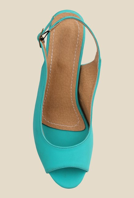 Cobbler's Thread Turquoise Back Strap Sandals