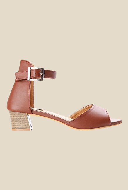 Cobbler's Thread Brown Ankle Strap Sandals