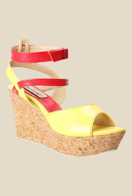 Cobbler's Thread Yellow & Red Ankle Strap Sandals