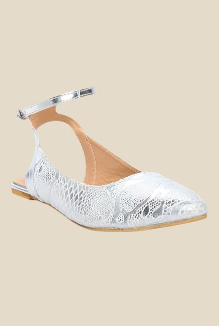 Cobbler's Thread Silver Ankle Strap Sandals