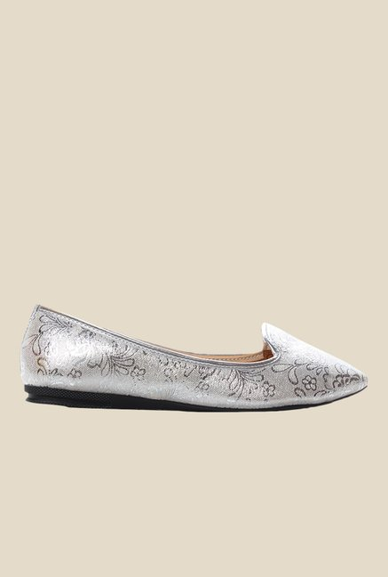 Cobbler's Thread Silver Flat Ballets