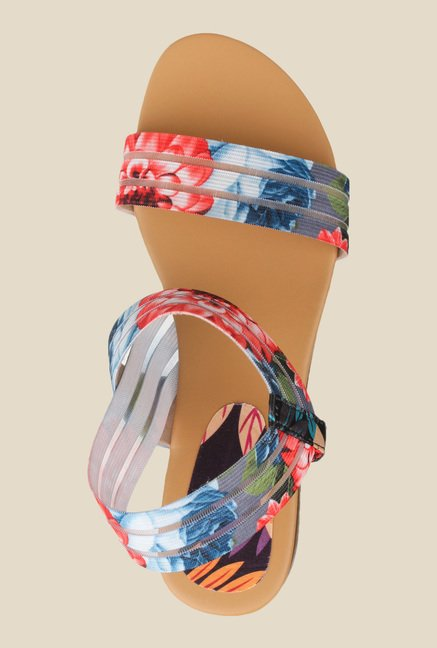 Cobbler's Thread Red & Blue Sling Back Sandals