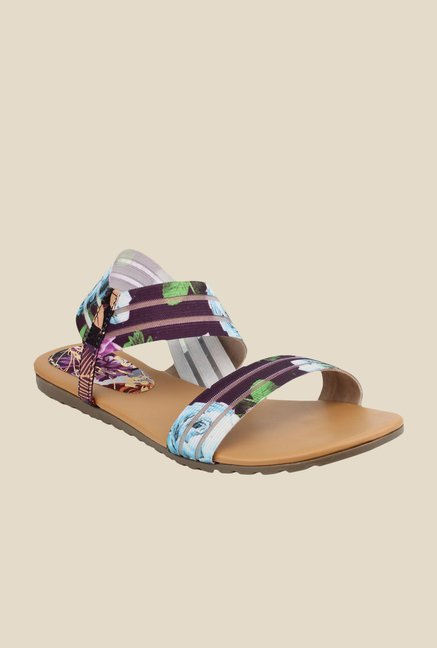 Cobbler's Thread Purple & Blue Sling Back Sandals