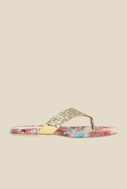 Cobbler's Thread Golden Thong Sandals