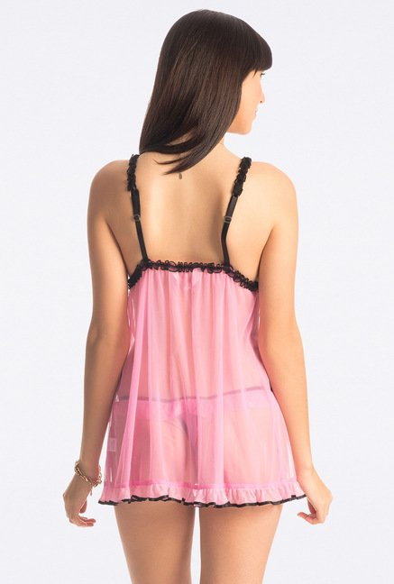 PrettySecrets Light Pink Sheer Babydoll