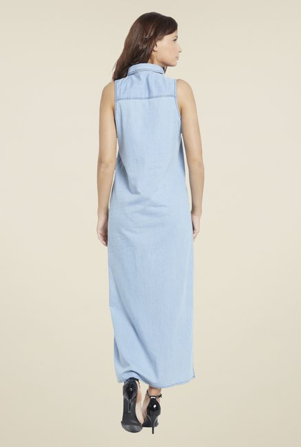 Globus Blue Denim Maxi Dress