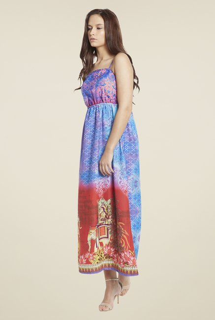 Globus Multicolor Printed Maxi Dress