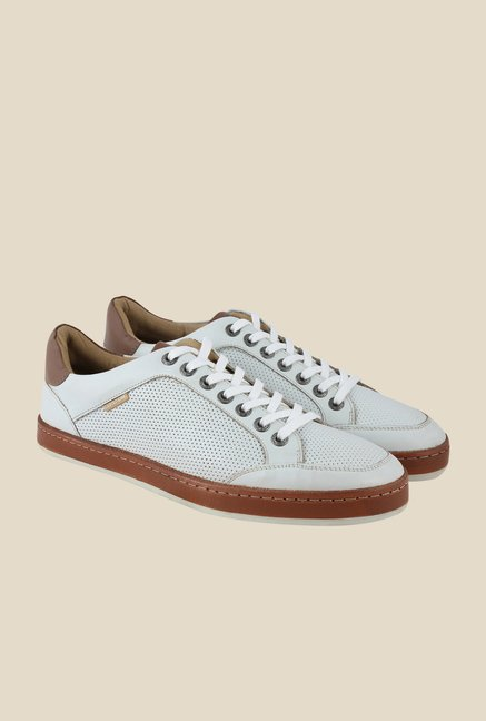 US Polo Assn. White & Brown Sneakers