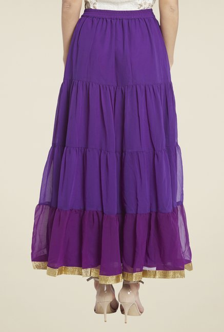 Globus Purple Solid Skirt