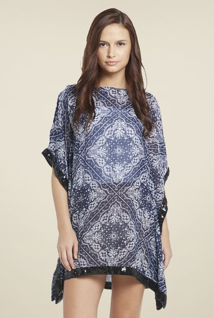 Globus Navy Printed Mini Dress