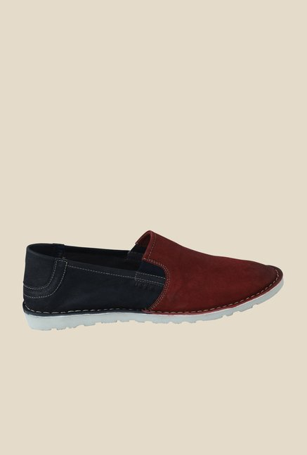 US Polo Assn. Bordo & Navy Slip-Ons