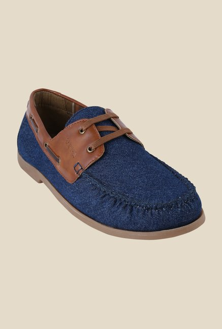 US Polo Assn. Blue & Tan Boat Shoes