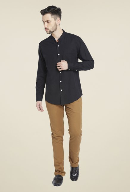 Globus Black Solid Shirt