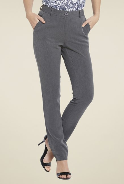 Globus Grey Solid Trouser