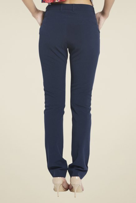 Globus Navy Solid Trouser