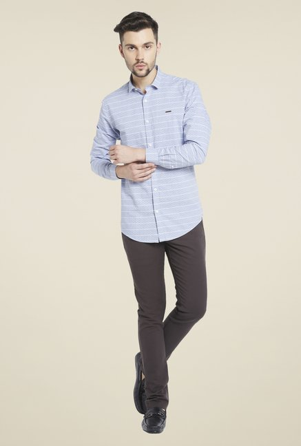Globus Blue Striped Shirt