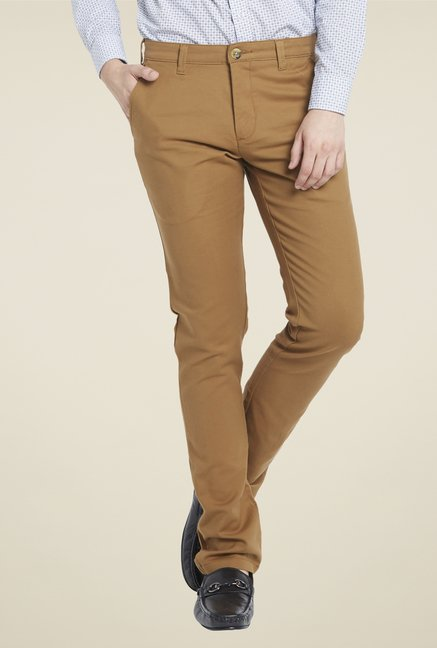 Globus Khaki Cotton Chinos