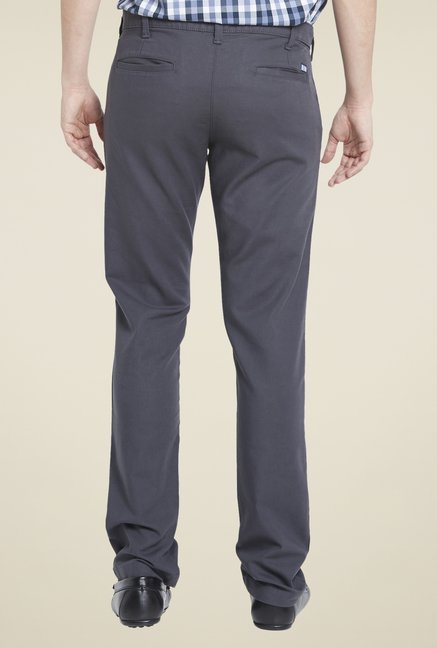 Globus Dark Grey Solid Chinos