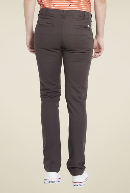 Globus Brown Cotton Chinos
