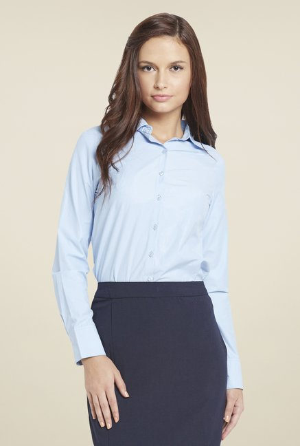 Globus Blue Solid Shirt