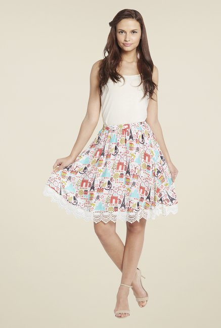 Globus Multicolor Printed Skirt