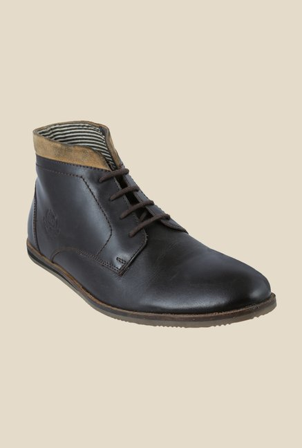 US Polo Assn. Dark Brown Chukka Boots