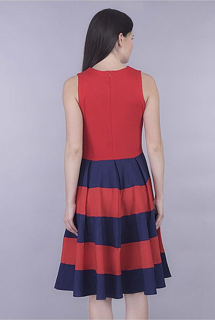 Kaaryah Red Striped Dress