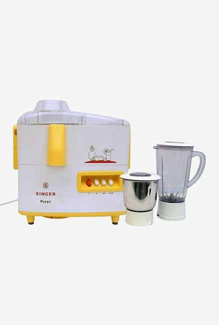 Singer Peppy 500 W Juicer Mixer Grinder (White)