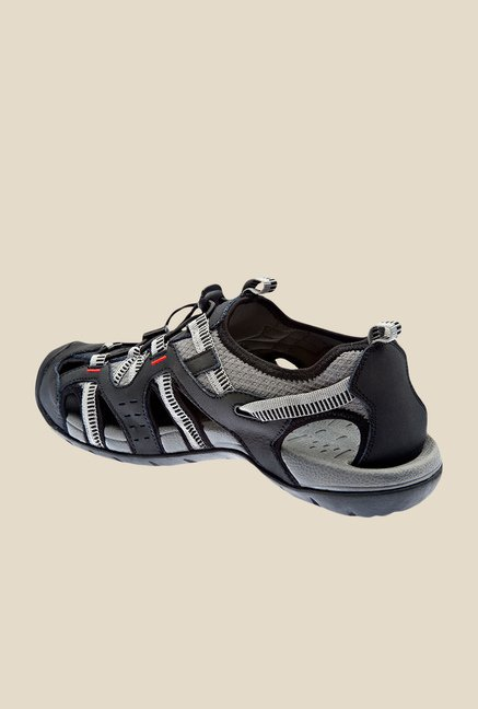 Wildcraft Terrafin Rise Black & Grey Fisherman Sandals