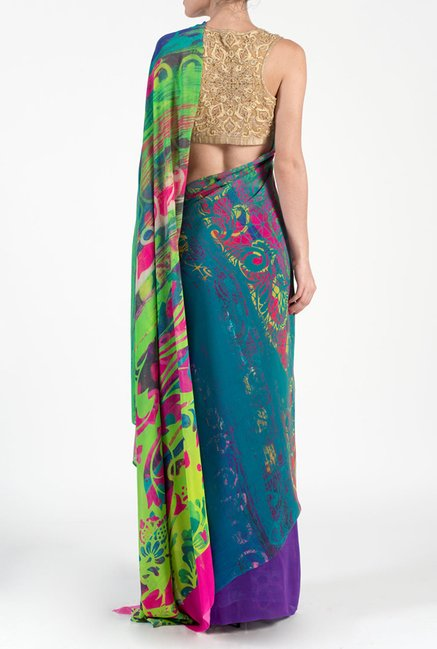 Satya Paul Multicolor Georgette Saree