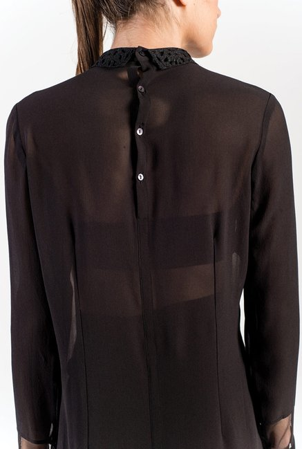 Satya Paul White & Black Printed Shirt