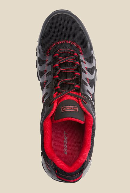 Wildcraft Craggrip Bolt Black & Red Casual Shoes