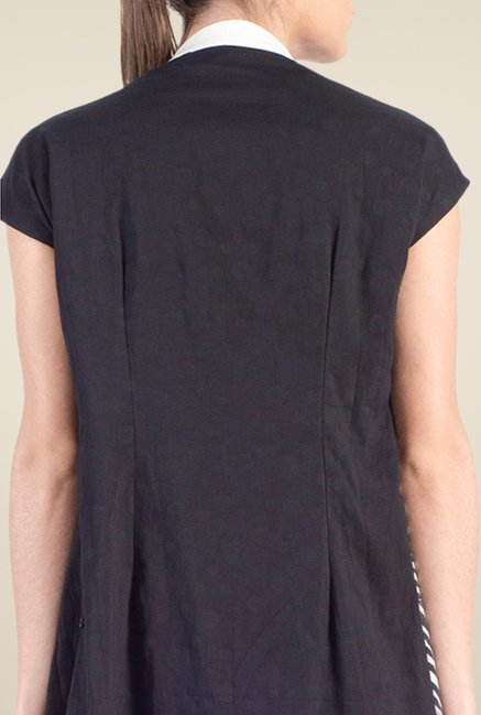 Satya Paul Black Cotton Lawn Shrug