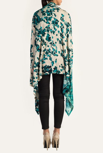 Satya Paul Teal Knit Shrug