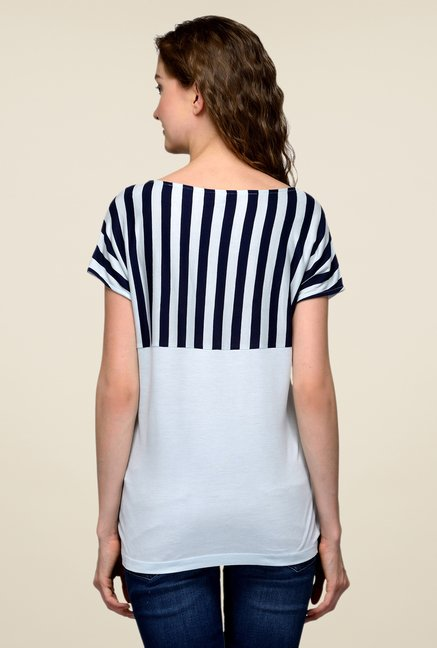 United Colors of Benetton Navy Striped Top