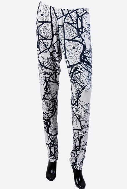 Satya Paul White & Black Leggings