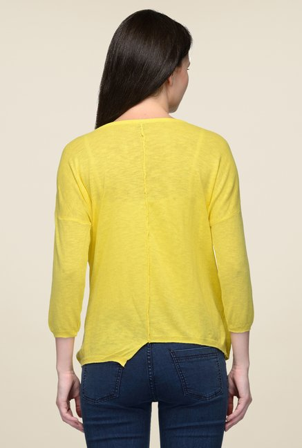 United Colors of Benetton Yellow Solid Top