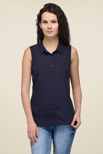 United Colors of Benetton Navy Printed Shirt