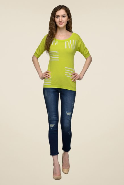 United Colors of Benetton Lime Printed Top