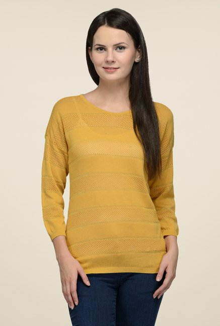United Colors of Benetton Ochre Solid Top